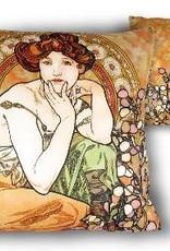 CARMANI - 1990 Alfons Mucha -Topaz -Precious Stones - Kissen