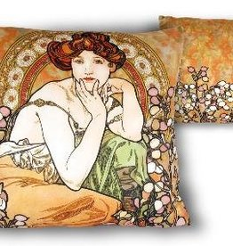 CARMANI - 1990 Alfons Mucha - Topaz pillow