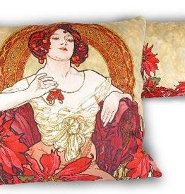 CARMANI - 1990 Alfons Mucha - Ruby - Pillow