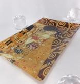 CARMANI - 1990 Gustav Klimt The Kiss glass plate 15 x 23 cm in gift box