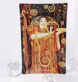 CARMANI - 1990 Gustav Klimt - Hygieia - glass plate / box