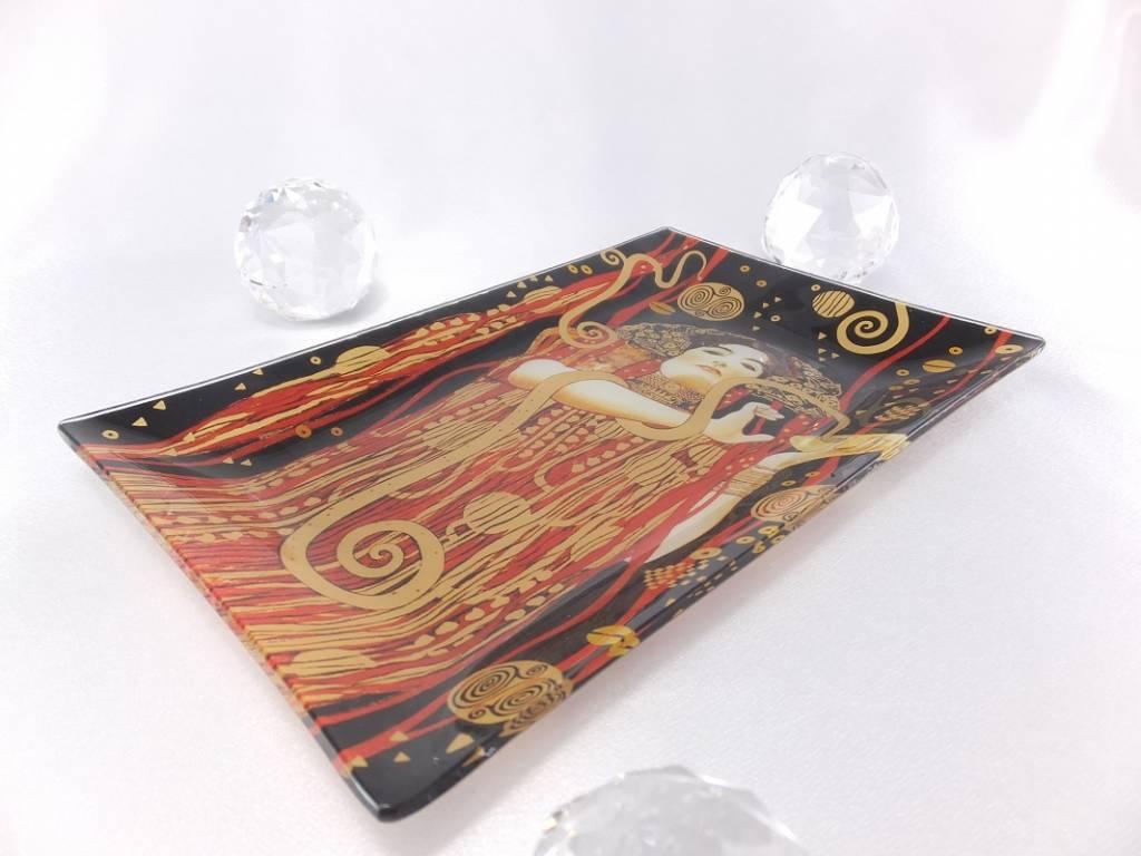 CARMANI - 1990 Gustav Klimt  - Hygieia - Glasteller in Geschenkbox