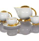 Cmielow - 1790 Glamour IX - Kaffeeservice  für 6 Personen mit Goldrand / Goldfuß