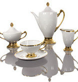 Cmielow - 1790 Glamor VII - Tea set for 6 persons with gold decoration