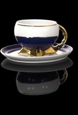 Cmielow - 1790 Glamour XI - Teetasse mit Kobalt / Golddekoration