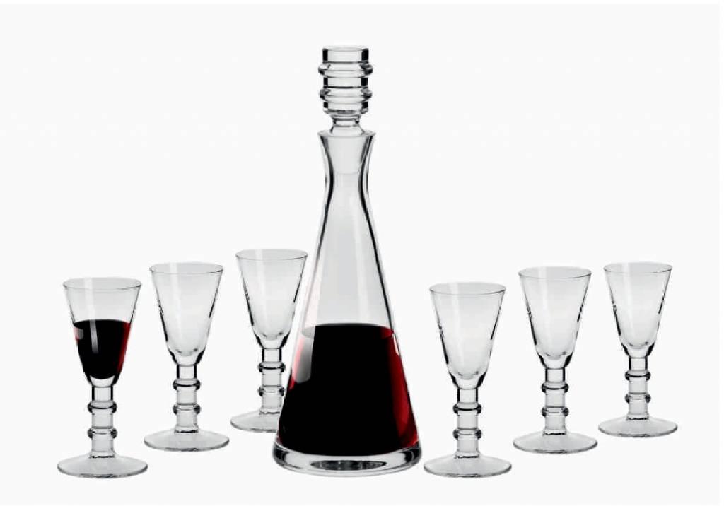 KROSNO 1923 Celebrity - Liqueur Set  Royal 7 -teilig