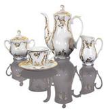 Cmielow - 1790 Glamour XII- Kaffeeservice für 6 Personen mit Golddekoration