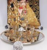 CARMANI - 1990 Gustav Klimt - Espressotasse aus Glas in Geschenkbox