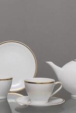 CRISTOFF -1831 Marie - Blanche  Weiß  mit Goldrand - Kaffeeservice für 6 Personen - 15 -teilig