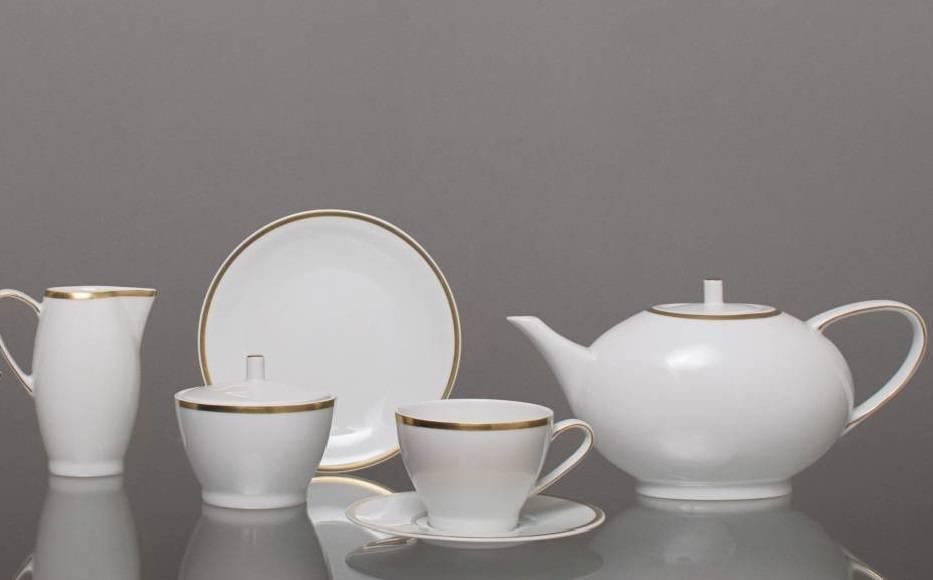 CRISTOFF -1831 Marie - Blanche  Gold   Kaffeeservice für 6 Personen