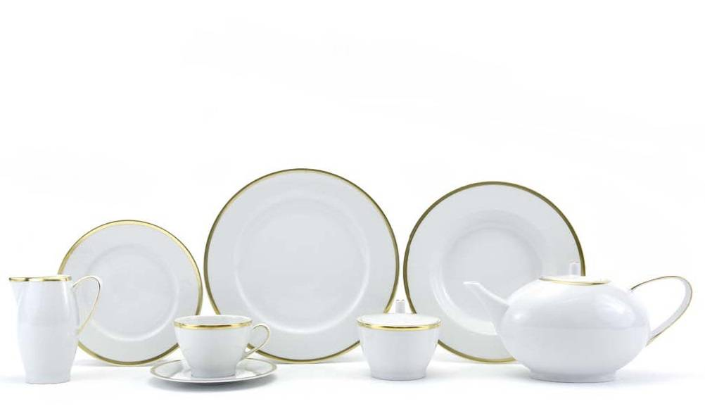 CRISTOFF -1831 Marie - Blanche Gold coffee service for 6 persons