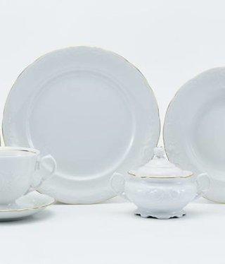 CRISTOFF -1831 Marie - Claire - White / Gold - Coffee service 6/15