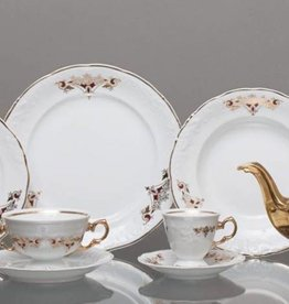 CRISTOFF -1831 Marie - Claire - Gold Ornament   - Kaffeeservice 6/15