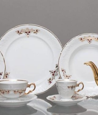 CRISTOFF -1831 Marie - Claire - Gold Ornament - Coffee Service 6/15