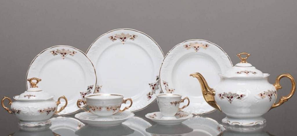 CRISTOFF -1831 Marie - Claire -  Gold Ornament - Kaffeeservice für 6 Personen