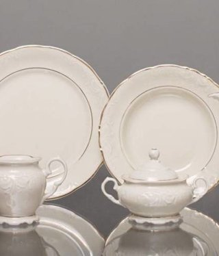 CRISTOFF -1831 Marie - Claire - Ecru / Gold   - Kaffeeservice 6/15