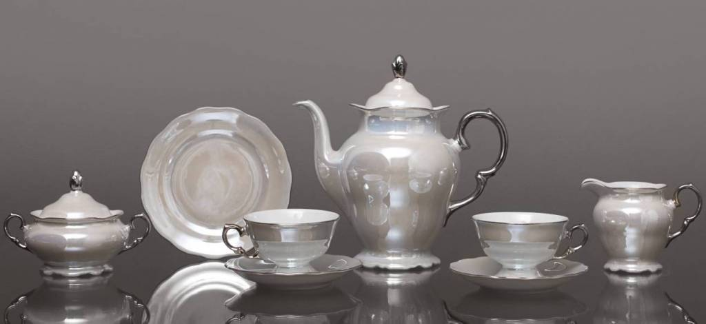 CRISTOFF -1831 Marie - Josée - Pearl / Luster / Platinum coffee service for 6 persons