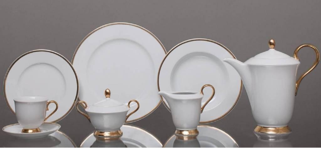 CRISTOFF -1831 Marie - Julie - Gold  ★  Kaffeeservice für 6 Personen