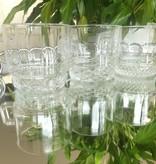 IRENA -  1924  Glastasse / Kaffeetassen  mit 6 verschiedenen Dekorationsvarianten