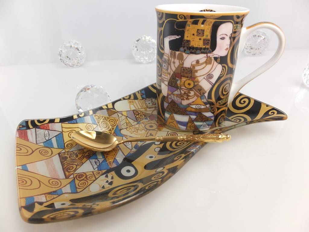 DELUXE by MJS Gustav Klimt - Expectation - Coffee cup in gift box