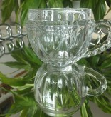 IRENA -  1924  Glass cup / cappuccino glass cup round with integrated ornament in 6 variants.