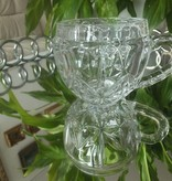 IRENA -  1924  Glastasse / Cappuccino Glastasse rund mit integriertem Ornament in 6 Varianten.