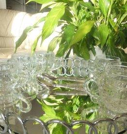 IRENA - 1924  Coffee cups round - glass 6 motifs