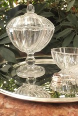 IRENA - 1924  Small glass Jardiniere with relief pattern