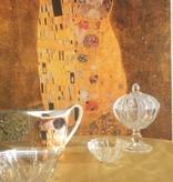 IRENA -  1924  Kleine Jardiniere aus Glas  mit Relief Muster
