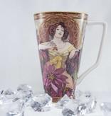CARMANI - 1990 Alfons Mucha -  The Precious Stones  -Rubin - XXL Kaffeetasse