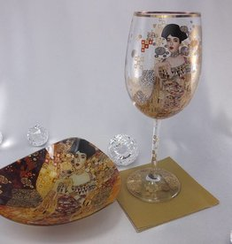 CARMANI - 1990 Gustav Klimt - Adele Bloch Bauer wine glass