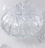 IRENA -  1924  Opulente Glasschale - Gebäckschale     mit Relief Muster