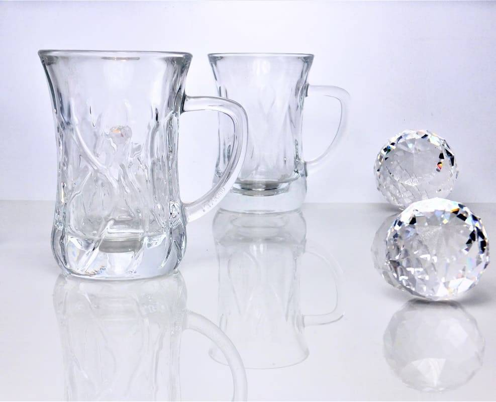 IRENA -  1924  Glastasse schmal  in 4 verschiedenen Schliffvarianten