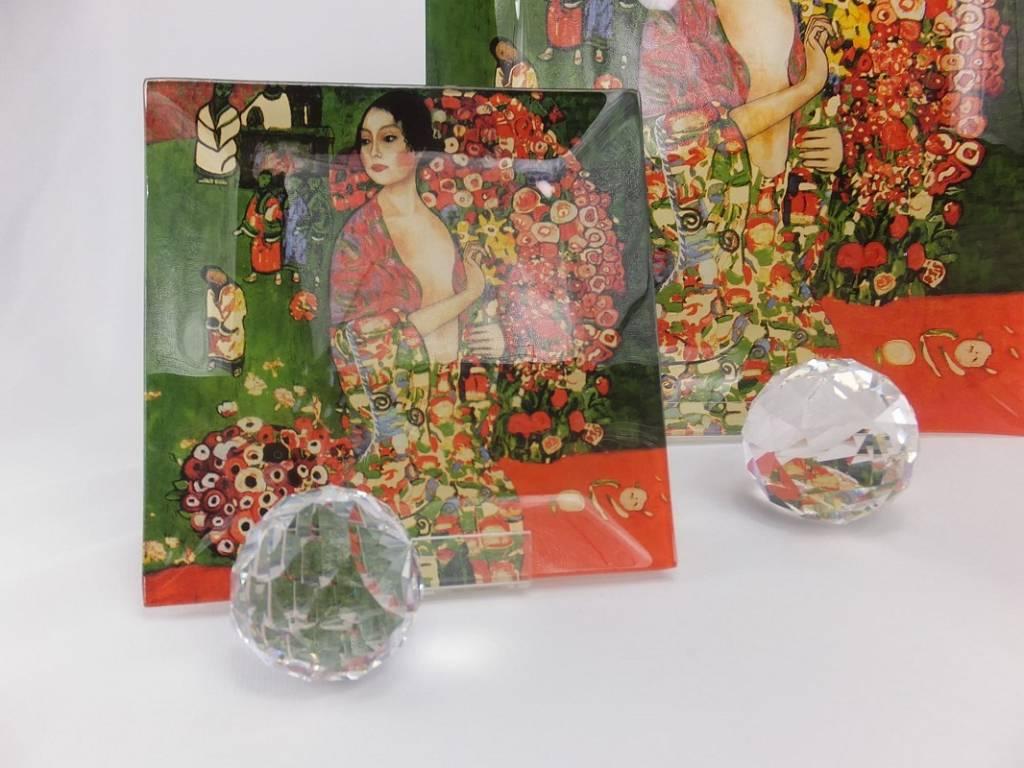 CARMANI - 1990 Gustav Klimt - The Dancer - Glass plates 13 x 13 cm