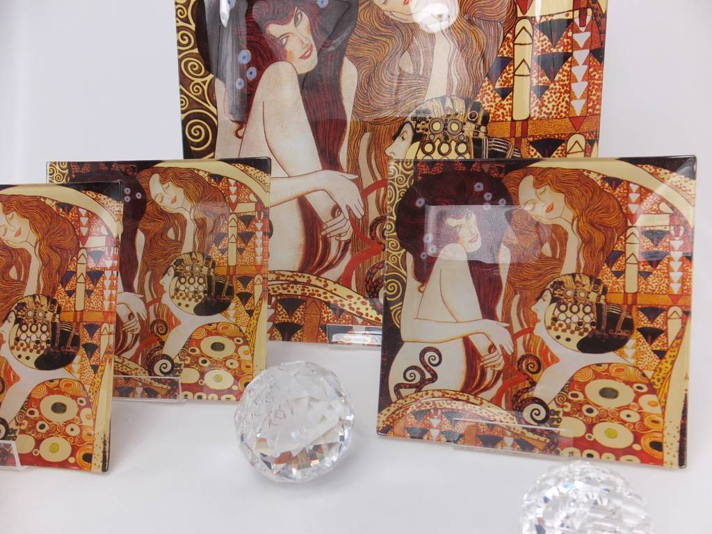 CARMANI - 1990 Gustav Klimt - glass plate - Beethovenfries