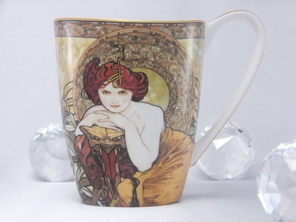 CARMANI - 1990 Alfons Mucha - The Precious Stones - Emerald - Coffee Cup Vanessa