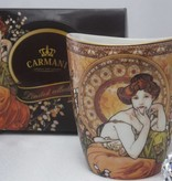 CARMANI - 1990 Alfons Mucha   - Topaz - The Precious Stones - Kaffeetasse Vanessa