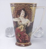 CARMANI - 1990 Alfons Mucha - The Precious Stones Ruby - XXL Coffee Mug