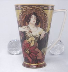 CARMANI - 1990 Alfons Mucha - Ruby coffee  - cup XXL