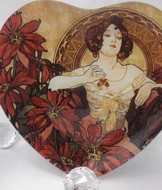 CARMANI - 1990 Alfons Mucha -  Rubin  - Glasteller
