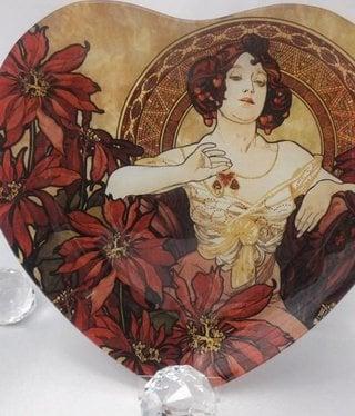 CARMANI - 1990 Alfons Mucha - Ruby - Glass plate