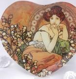 CARMANI - 1990 Alfons Mucha -  Topaz  - Dekorationsteller in Herzform