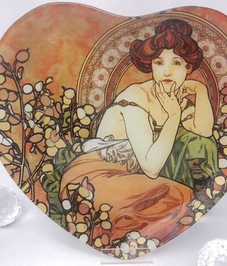 CARMANI - 1990 Alfons Mucha - Topaz - glass plates