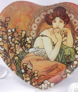 CARMANI - 1990 Alfons Mucha -  Topaz  - Glasteller