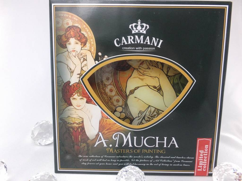 CARMANI - 1990 Alfons Mucha - Topaz - Decoration plate in heart shape
