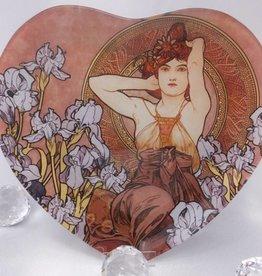 CARMANI - 1990 Alfons Mucha - Amethyst - glass plate