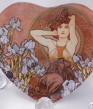 CARMANI - 1990 Alfons Mucha -  Amethyst   Glasteller