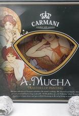 CARMANI - 1990 Alfons Mucha - Amethyst - Heart shaped decoration plate