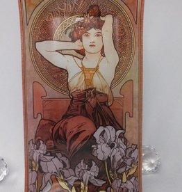 CARMANI - 1990 Alfons Mucha -  Amethyst   - Glasteller
