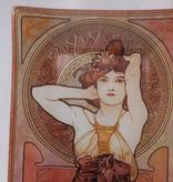CARMANI - 1990 Alfons Mucha -  Amethyst   -Servierplatte 30 x 16 cm